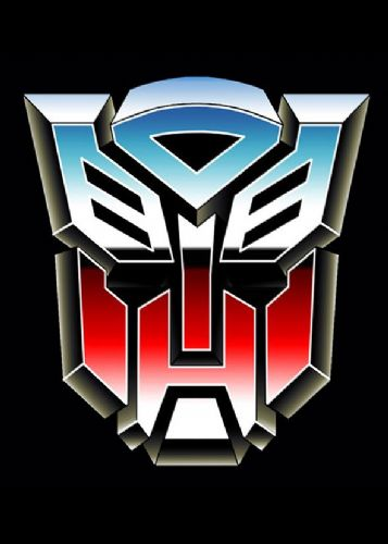 TRANSFORMERS - AUTOBOT LOGO BLACK canvas print - self adhesive poster - photo print